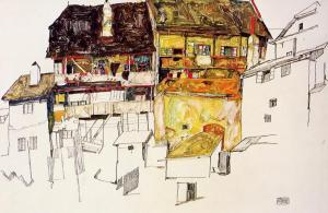 Egon Schiele, Old Houses in Krumau