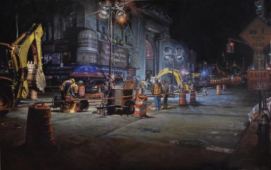Night Shifts, 46x70, oil on linen