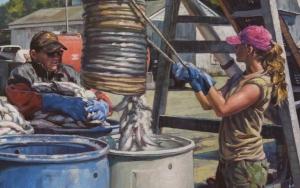 Salting the Herring, detail