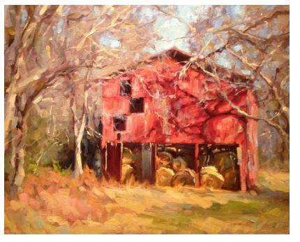 Studio painting, 24x30