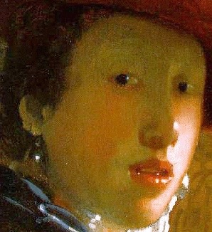Girl with a Red Hat, detail