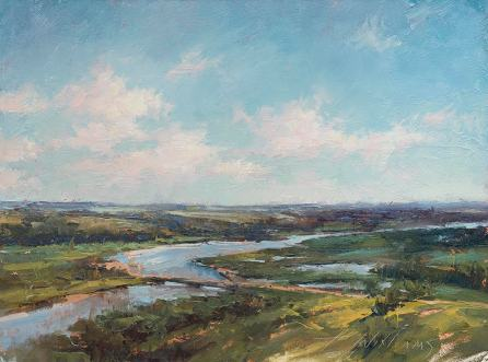 """Niobrara State Park"", Oil. 9x12, Plein Air"