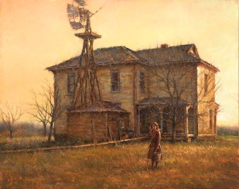 """Prairie Settlers - 1893"", Oil, 24"" X 30"" - Studio"