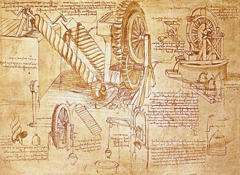 Leonardo's Water Wheel