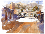 2013DowntownLA- a plein air piece I did while painting with my friends Tom Schaller and William Hook down by the LA river. Very gritty, dirty, big machines, loud noises. All the things I love.