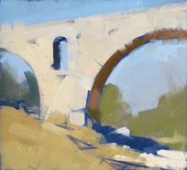 Pont Julian, 2015, 11x13ins oil on linen,©2016Maggie Siner