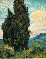 Van Gogh, Cypresses, 1890, 37x29, oil, Rogers Fund 1949