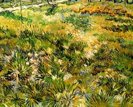 Van Gogh, Meadow in the Garden St-Paul Hospital, 1890, 64.5x81cm, oil, Nat Gal London