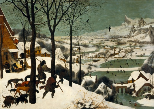 JC Pieter_Bruegel_the_Elder_-_Hunters_in_the_Snow