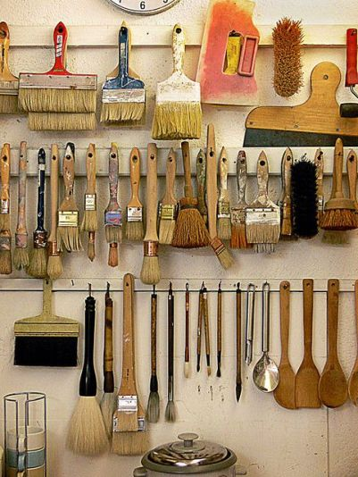 Brush Wall Storage