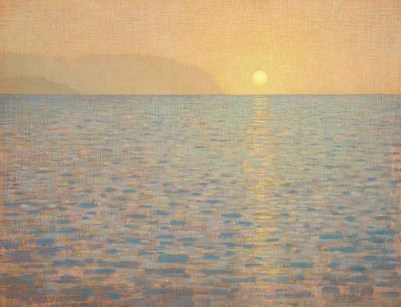 Sea and Reflected Sun, 18x24 inches, Oil on Linen Panel, small